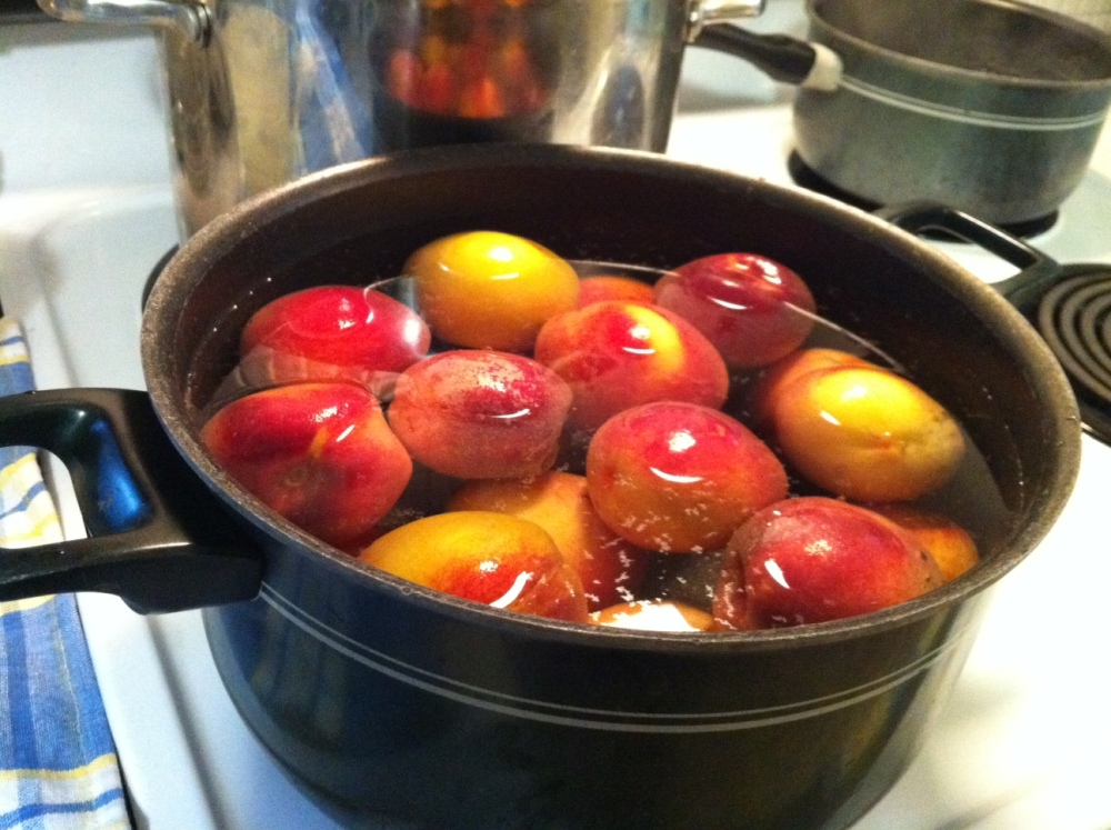 STEP BY STEP: Canning peach preserves (2/6)