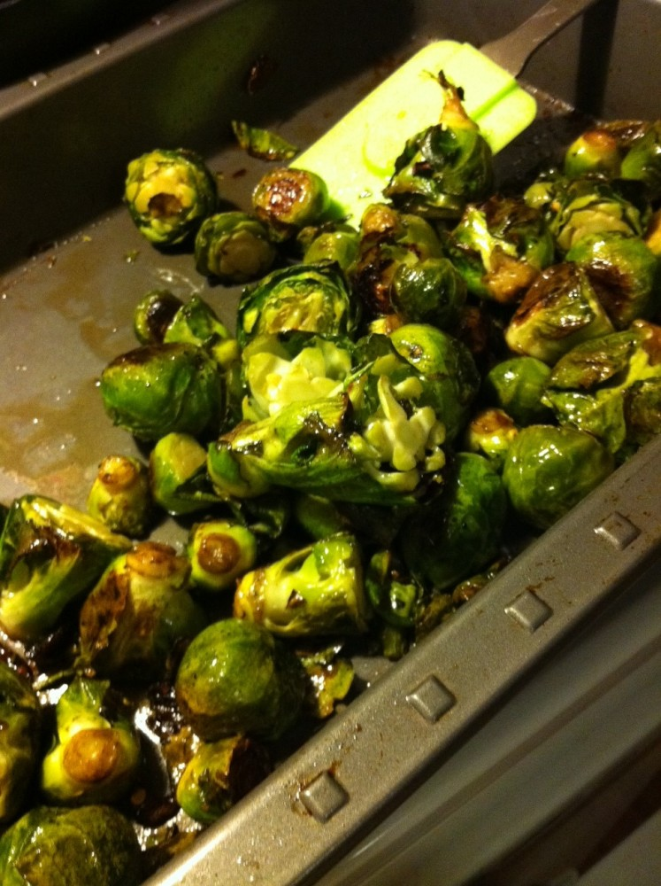 Brussels Sprouts Gratin & Maple-Cayenne Roasted Brussels Sprouts (3/6)