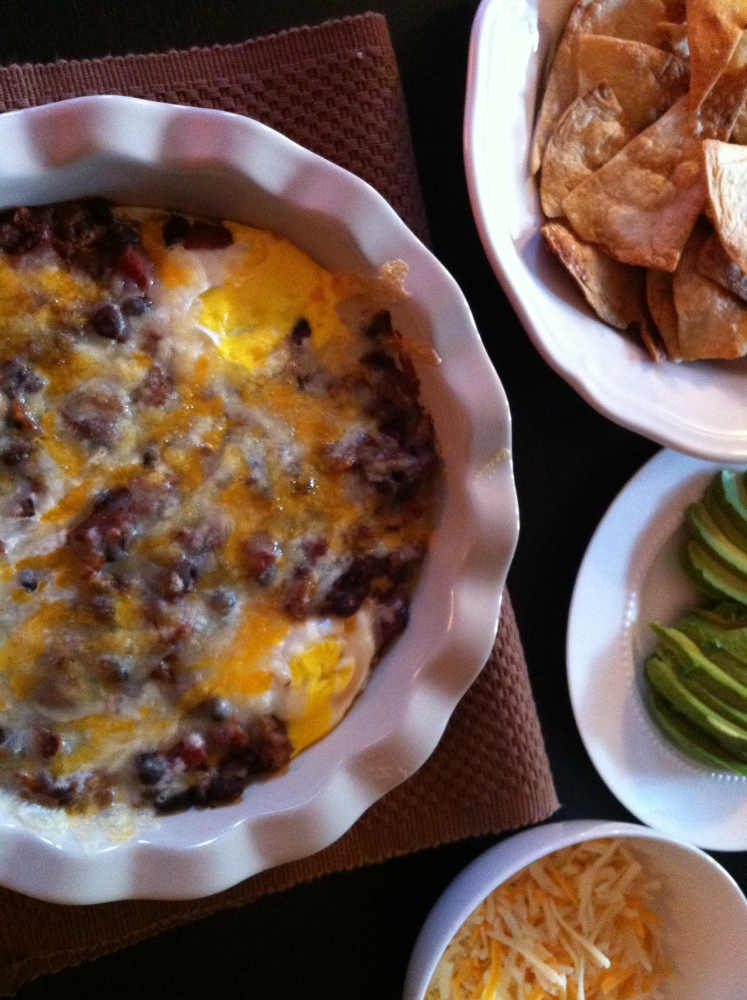 Mexican Baked Eggs with Homemade Tortilla Chips (1/6)