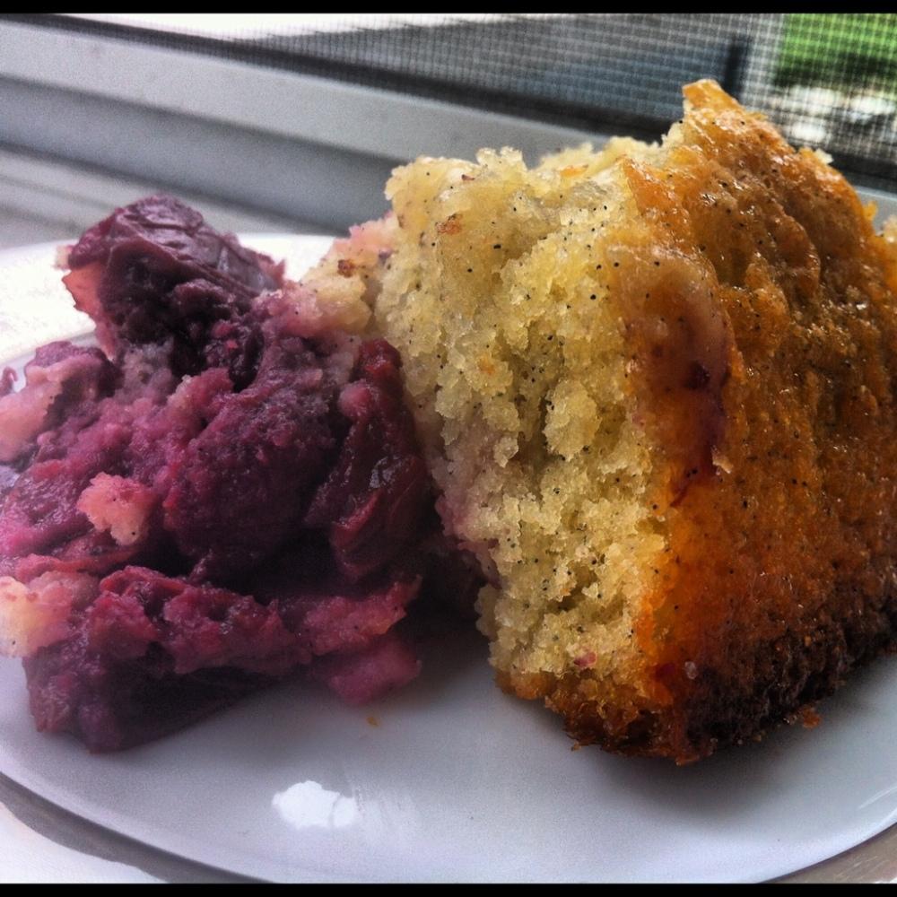 Cherry Vanilla Upside-Down Cake (1/6)