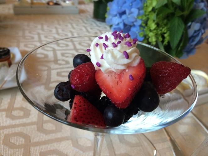 Gotta love fresh fruit served in a martini glass.