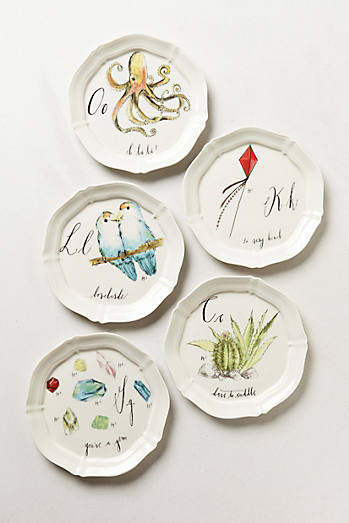 Last minute foodie gifts for Calligrapher canape plate anthropologie