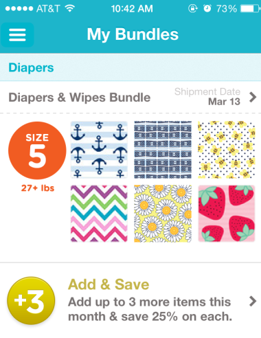 diaper screen shot
