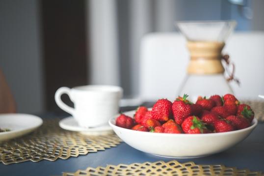 red strawberries organic